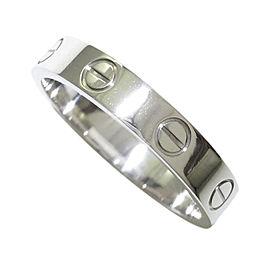 Cartier Mini Love 18K White Gold Ring Size 6