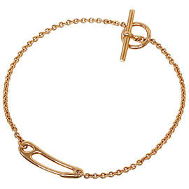 Hermes 18K Rose Gold Chaine d'Ancre Chain Bracelet Bangle