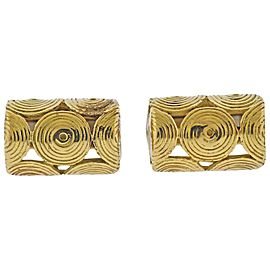Tiffany & Co. Swirl Motif Gold Cufflinks