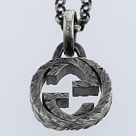 GUCCI Interlocking G 925 silver Necklace