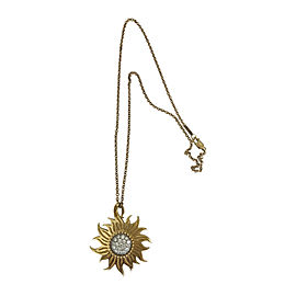 Carrera Y Carrera Sol Y Sombra 18K Yellow Gold with 0.65ctw Diamonds Pendant Necklace