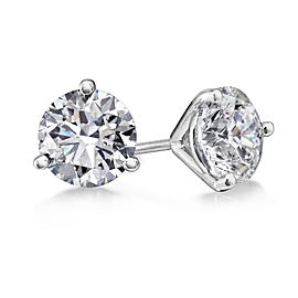 Crush & Fancy Brilliant Studs 14k White Gold Diamond 2.05ctw. Diamond Earrings