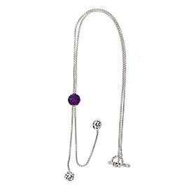 Mosaic Amethyst Lariat Necklace