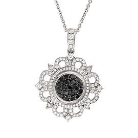 Black And White Diamond Medallion