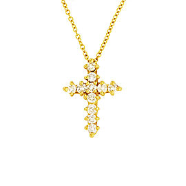 Tiffany & Co. 18k Yellow Gold 0.42ct Diamond Necklace