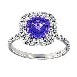Tiffany & Co. Platinum Tanzanite, Diamond Ring
