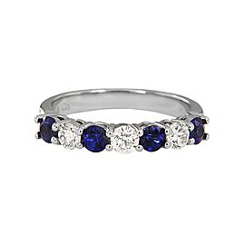 Tiffany Platinum Blue Sapphires 0.6ct Ring
