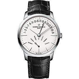 Vacheron Constantin Patrimony 4000U/000G-B112 18K White Gold & Leather Automatic 42.50 mm Mens Watch