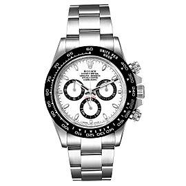 Rolex Daytona Ceramic Bezel White Dial Mens Watch 116500