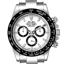 Rolex Daytona Ceramic Bezel White Dial Mens Watch 116500 Box Card