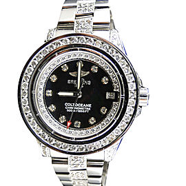 Breitling Aeromarine White Colt Ocean 9.5 Ct Diamond Ladies Watch