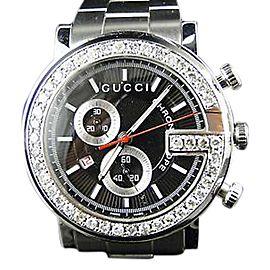 Gucci Ya101324 Chrono 3.5ct. Diamond 101G Mens Watch