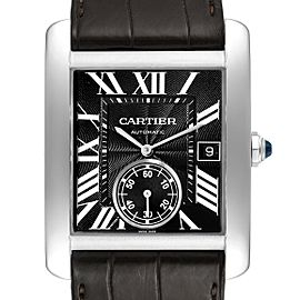 Cartier Tank MC Black Dial Automatic Mens Watch W5330004 Box