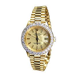 Rolex President Day-Date 18k Yellow Gold Diamond 27 MM Watch