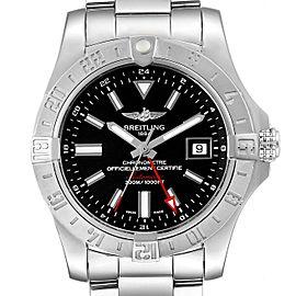 Breitling Aeromarine Avenger II GMT Black Dial Watch A32390 Box