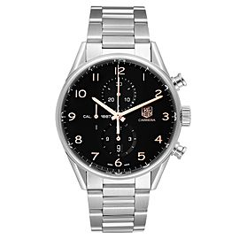 Tag Heuer Carrera 1887 Black Dial Chronograph Steel Mens Watch CAR2014