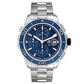Tag Heuer Aquaracer Blue Dial Steel Mens Watch CAK2112