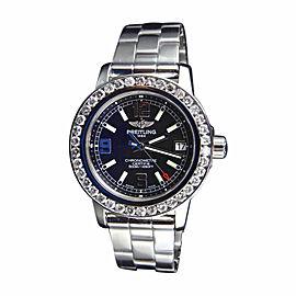 Breitling Aeromarine Colt 33 A77387 Black Dial 2.5 Ct Diamond Watch