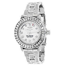 Breitling Ladies Aeromarine MOP Colt Oceane 33 Diamond A77387 13.5 Ct Watch