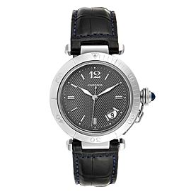 Cartier Pasha 38mm Gray Dial Steel Mens Watch W31017H3