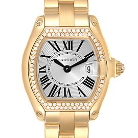 Cartier Roadster Ladies 18K Yellow Gold Diamond Ladies Watch WE5001X1