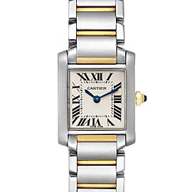 Cartier Tank Francaise 20mm Steel Yellow Gold Ladies Watch W51007Q4 Box