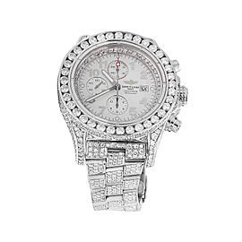 Breitling A13370 Super Avenger XL Stainless Steel with 31.5ct. Diamonds 52mm Mens Watch