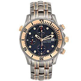 Omega Seamaster 41mm Titanium 18K Rose Gold Mens Watch 2296.80.00