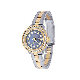 Rolex Datejust 6917 18K Yellow Gold & Stainless Steel Blue Dial 26mm Womens Vintage Watch