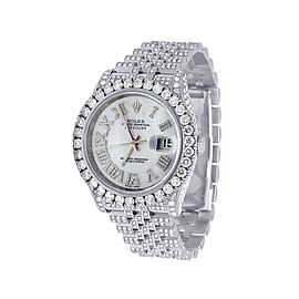 Rolex Datejust 116234 Stainless Steel with Custom 17.5ct. Diamond Mother of Pearl Dial Automatic 36mm Mens Watch