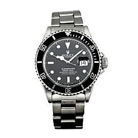 Rolex Submariner Date 168000 Vintage 40mm Mens Watch