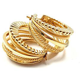 Carrera Y Carrera Melodia 18k Yellow Gold 5Strand Diamond Earrings