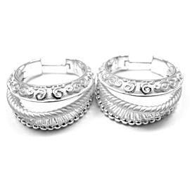 Carrera Y Carrera Melodia 18k White Gold Earrings