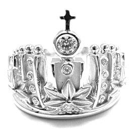 Carrera Y Carrera 18k W/G Mi Princes Russian Crown Diamond Ring