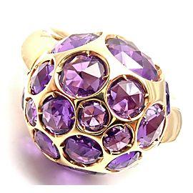 Pomellato Harem 18k Rose Gold Amethyst Ring Box/Certificate