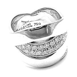 CHANEL 18k WHITE GOLD DIAMOND BAND RING
