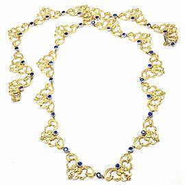"Buccellati 18k Yellow Gold Sapphire 24"" Long Necklace"