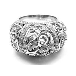 Carrera Y Carrera Taj Mahal 18k White Gold Diamond Ring Box Cert.