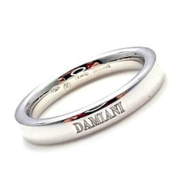 Damiani 18k White Gold 3.5mm Band Ring Sz 7.5