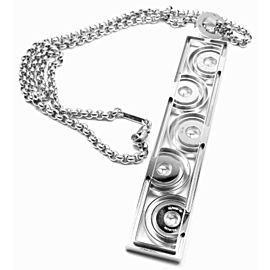 Chopard Happy Spirit 18K White Gold Diamond Pendant Necklace