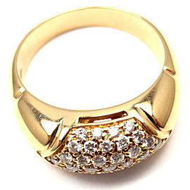 BULGARI BVLGARI 18k Yellow Gold Diamond Band Ring