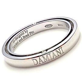 Authentic Damiani Brad Pitt Platinum 4 Diamond 3mm Band Ring Sz 7