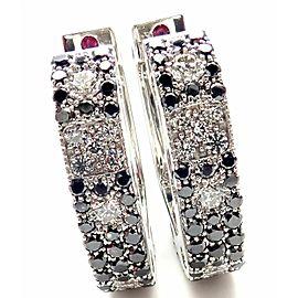 Roberto Coin Pois Moi 18k White Gold Black White Diamond Earrings