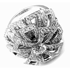 Chanel FLower 18k White Gold Diamond Large Ring