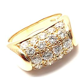 Authentic! Bulgari Bvlgari Tronchetto 18k Yellow Gold Diamond Band Ring