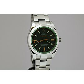 Rolex Milgauss Green Sapphire Crystal Automatic Watch 116400GV with Card