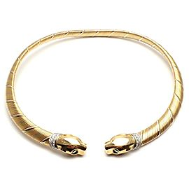 Cartier Panther Panthere 18k Tri-Color Gold Diamond Collar Necklace