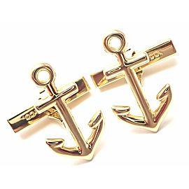 Tiffany & Co Anchors 18k Yellow Gold Cufflinks