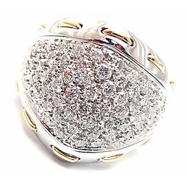 Damiani 18k White Gold 1.36ct Diamond Cocktail Ring Retail $11,990