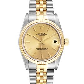 Rolex Datejust Midsize 31mm Steel Yellow Gold Ladies Watch 68273 Box